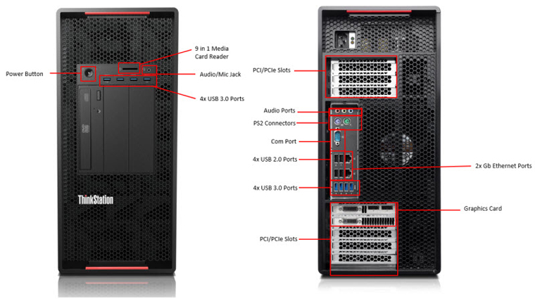 ThinkStation P900 External Front and Rear